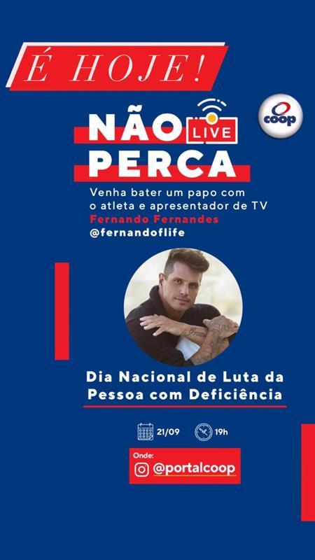 LIVE COM ATLETA FERNANDO FERNANDES