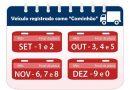 Veículos com placas terminadas em 0 devem ser licenciados neste mês
