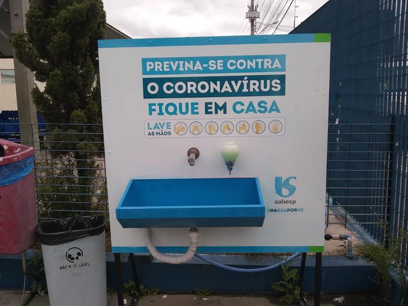 Revitalização dos lavatórios de mãos da Sabesp