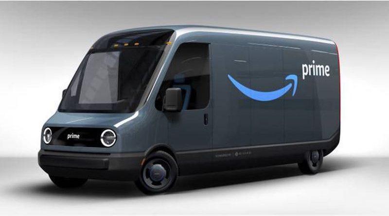 Vans elétricas da Amazon