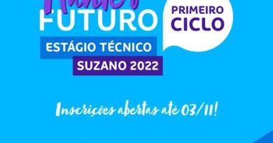 Suzano abriu inscrições para o Programa de Estágio Técnico 2022