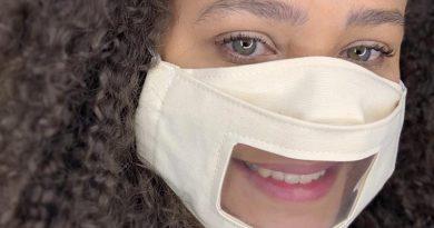 Máscaras acessíveis com visor