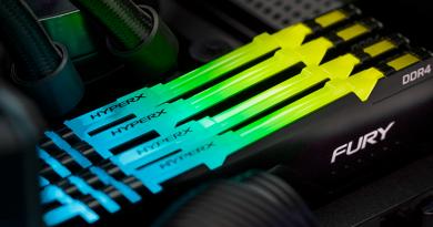 Memória HyperX FURY DDR4 RGB