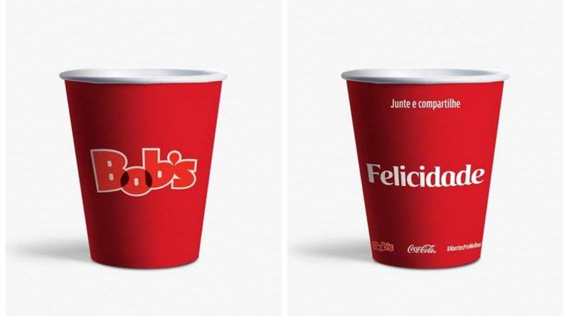 Parceria entre Bob's e Coca-Cola leva palavras positivas ao consumidor