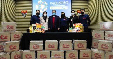 Paulistão Contra a Fome: ação social entrega 5t de alimentos para entidades beneficentes
